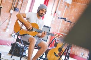 Busking It Rehearsal Shot. Credit: Sam Allard